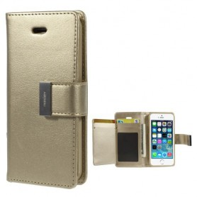 iPhone 5 samppanjan kultainen puhelinlompakko
