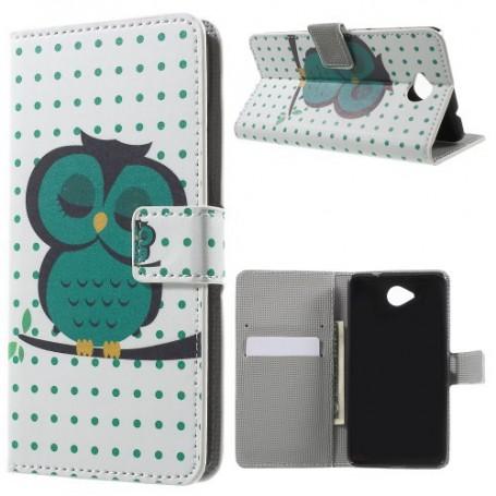 Lumia 650 vihreä pöllö puhelinlompakko
