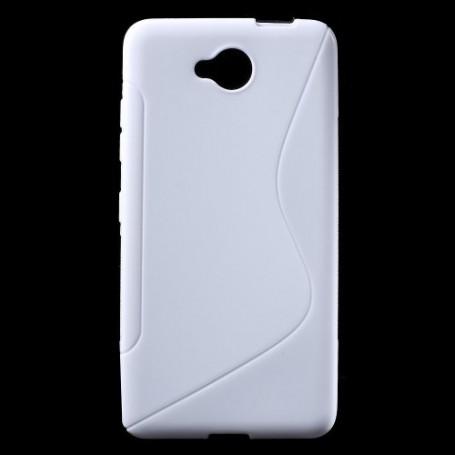 Lumia 650 valkoinen silikonisuojus.