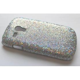 Galaxy S3 Mini (i8190) hopean värinen glitter suojakuori.