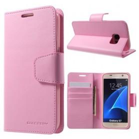 Samsung Galaxy S7 vaaleanpunainen puhelinlompakko