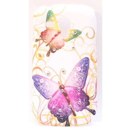 Samsung Galaxy Trend timattikoristellut perhoskuoret.