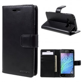 Samsung Galaxy J1 musta puhelinlompakko