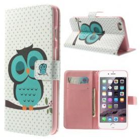 iPhone 6 plus torkkuva pöllö puhelinlompakko