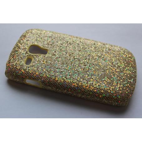 Galaxy S3 Mini (i8190) kullan värinen glitter suojakuori.