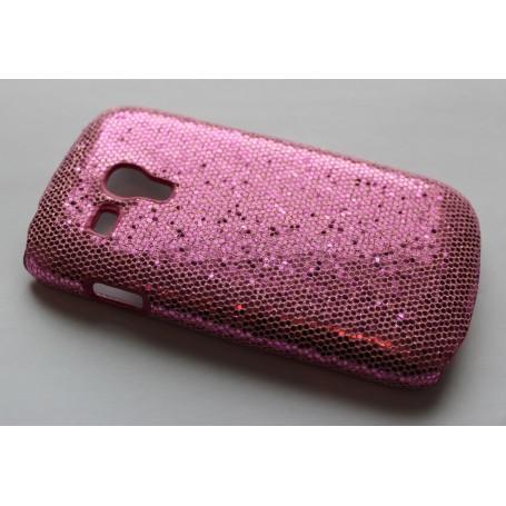 Galaxy S3 Mini (i8190) pinkin värinen glitter suojakuori.