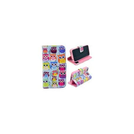 iPhone 4 värikkäät pöllöt puhelinlompakko