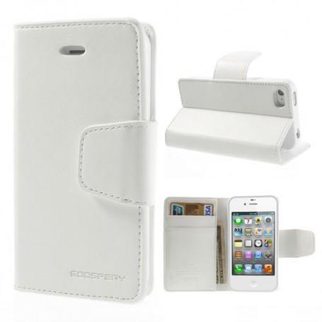 Apple iPhone 4s valkoinen puhelinlompakko