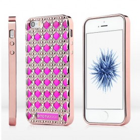 Apple iPhone 5s SE roosan punaiset bling bling kuoret