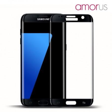 Samsung Galaxy S7 edge kirkas karkaistu lasikalvo mustat reunukset.