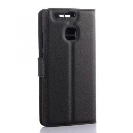 Huawei P9 musta puhelinlompakko