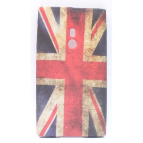 Lumia 800 Iso-Britannian lippu silikonisuojus.