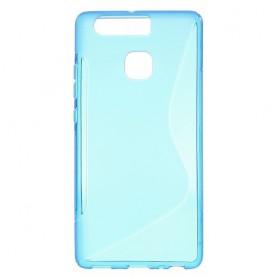 Huawei P9 sininen silikonisuojus.