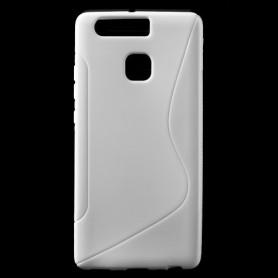 Huawei P9 valkoinen silikonisuojus.