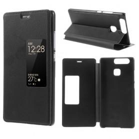 Huawei P9 musta ikkunakotelo