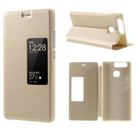 Huawei P9 kullan värinen ikkunakotelo