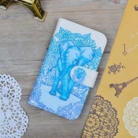 Huawei Y5 sininen elefantti puhelinlompakko