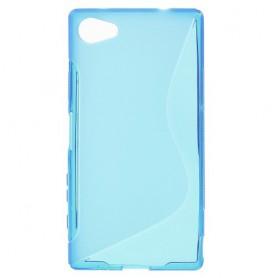 Sony Xperia Z5 Compact sininen silikonisuojus.