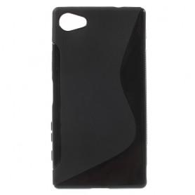 Sony Xperia Z5 Compact musta silikonisuojus.
