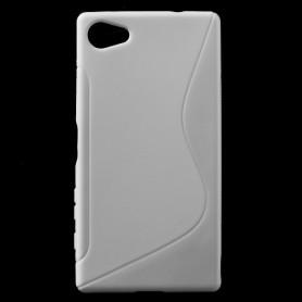 Sony Xperia Z5 Compact valkoinen silikonisuojus.