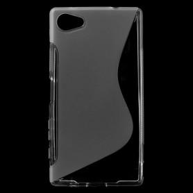 Sony Xperia Z5 Compact läpinäkyvä silikonisuojus.