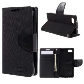 Sony Xperia Z5 Compact musta puhelinlompakko