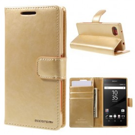 Sony Xperia Z5 Compact samppanjan kultainen puhelinlompakko