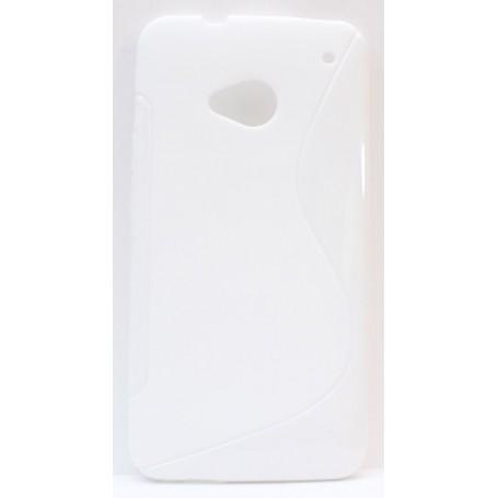 HTC One valkoinen silikonisuojus.