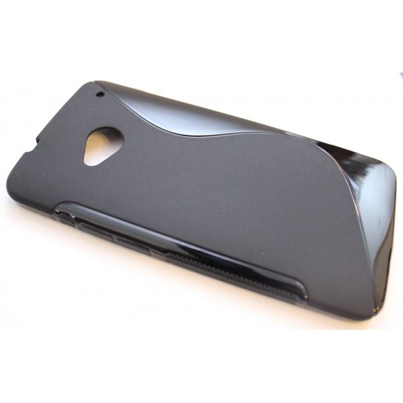 HTC One musta silikonisuojus.