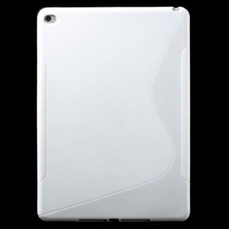 Apple iPad Air 2 valkoinen silikonisuojus.