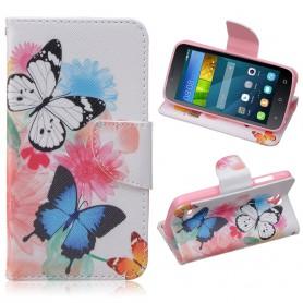 Huawei Y5 kaksi perhosta puhelinlompakko