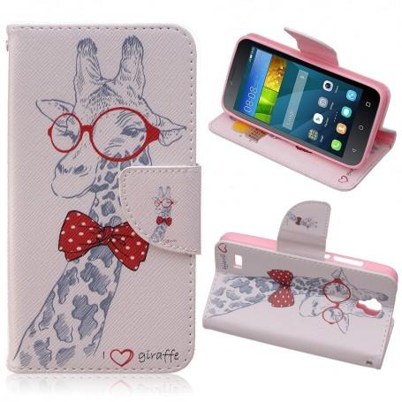 Huawei Y5 kirahvi puhelinlompakko