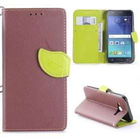 Samsung Galaxy J5 ruskea puhelinlompakko