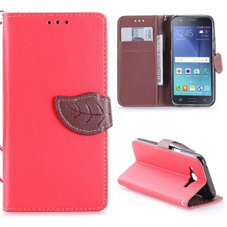Samsung Galaxy J5 punainen puhelinlompakko