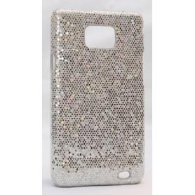 Galaxy S2 hopean värinen glitter suojakuori.