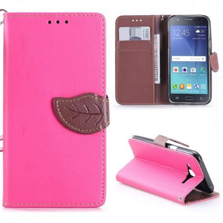 Samsung Galaxy J5 hot pink puhelinlompakko