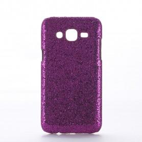 Galaxy J5 violetti glitter suojakuori.