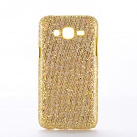 Galaxy J5 kulta glitter suojakuori.