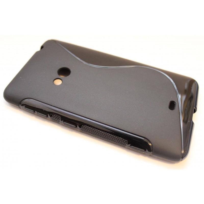 Lumia 625 musta silikonisuojus.