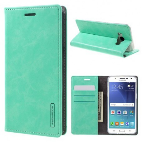 Samsung Galaxy J5 2016 sinisen vihreä puhelinlompakko
