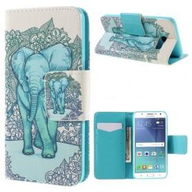 Samsung Galaxy J5 2016 sininen norsu puhelinlompakko