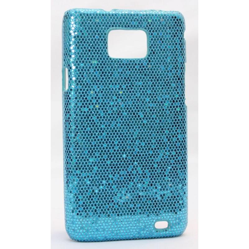 Galaxy S2 sinisen värinen glitter suojakuori.