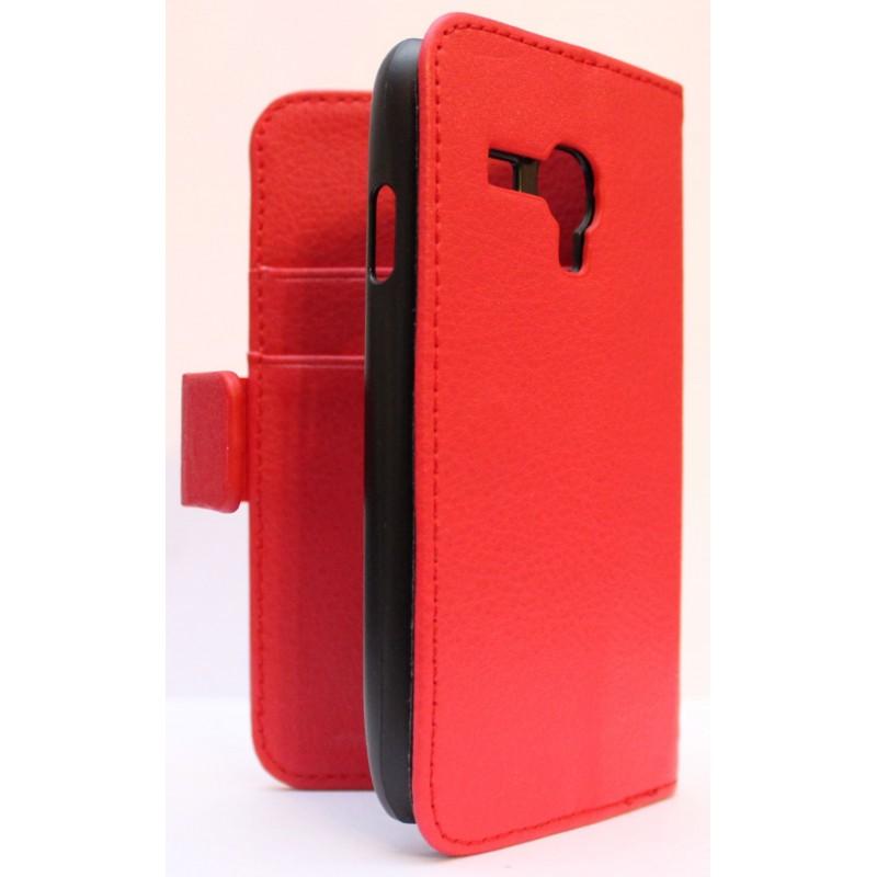 Galaxy S3 Mini punainen puhelinlompakko