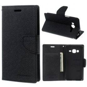 Samsung Galaxy J3 2016 musta puhelinlompakko