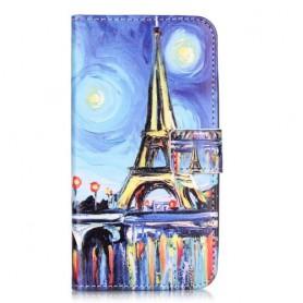 Huawei Y6 Pro sininen Eiffel-torni puhelinlompakko