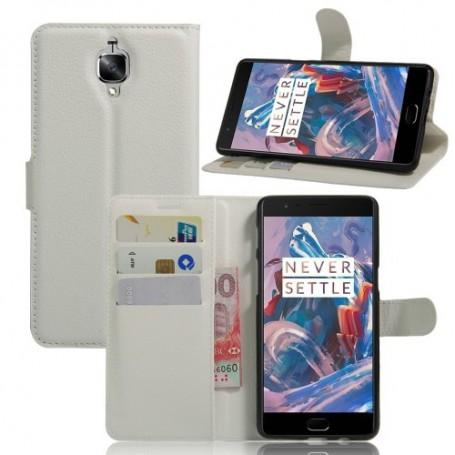 OnePlus 3 valkoinen puhelinlompakko