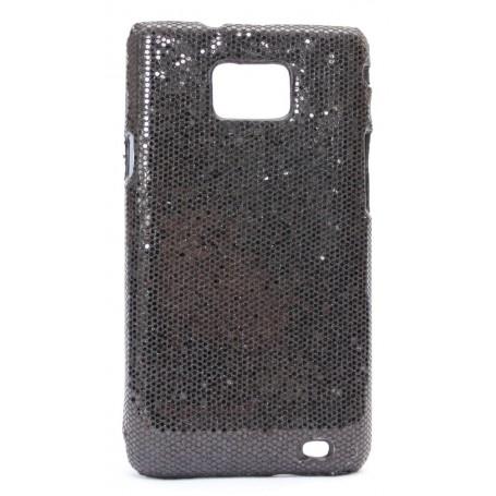 Galaxy S2 mustan värinen glitter suojakuori.