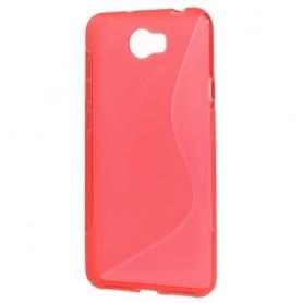Huawei Y5 II punainen silikonisuojus.