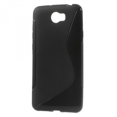 Huawei Y5 II musta silikonisuojus.