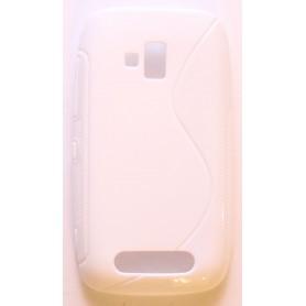 Lumia 610 valkoinen silikonisuojus.